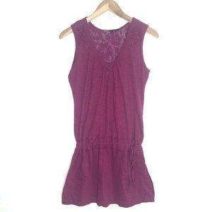 prAna T-shirt Dress Tunic Fuschia Pink Size M